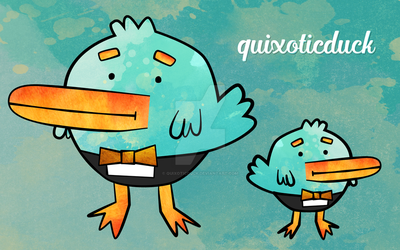 quixoticduck vector duck wallpaper by quixoticduck