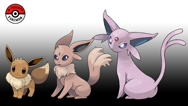 133 - 196 Espeon Line (Redo) by InProgressPokemon