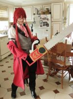 Grell With Chainsaw by izzy5605