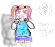 edgy circus baby doodle by sanzzzy