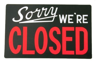 Closed Sign by montague