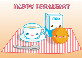 Happy Breakfast by Pochina