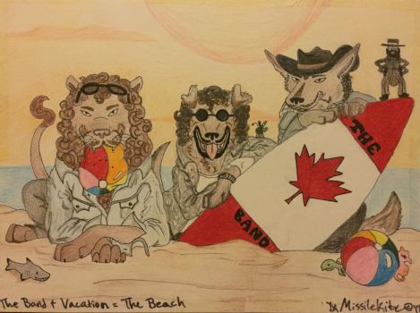 The Band + Vacation = The Beach by Missilekite