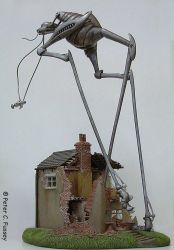Martian War Machine and House 2 by Lonesome--Crow