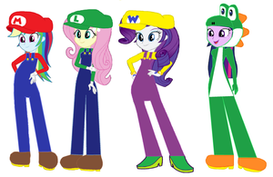 Equestria Girls as Mario 64 DS Stars by VG805SMASHBROS