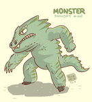 Monster Monday 008- Big fat lizard monster by rickruizdana