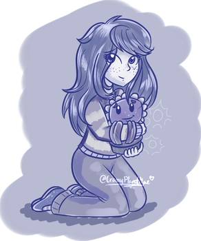 Wallflower and her flower-friend, Fred by CrazyPlantMae