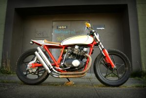 orange and cream Cafe racer 2 by Vidiphoto