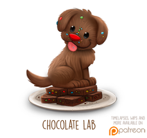Daily Paint 1510. Chocolate Lab by Cryptid-Creations