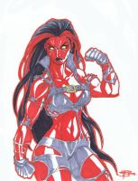 Fooray Red She Hulk commission by vic55b