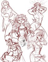 Sketchdump001: Redheads by y2hecate