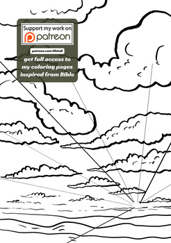 [008] Genesis 1:8 - coloring page - Bible by GhitaBArt