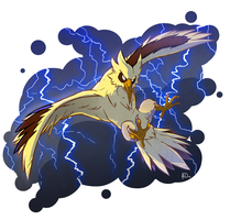 Favorite Electric Type: Zapdos by TheArtsyAxolotl
