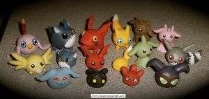 Clay Digimon Set 3 by HeyLookASign