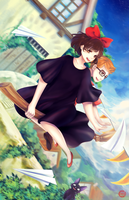 Kiki's Delivery Service by xpuresnow