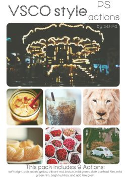 VSCO style ps actions by beorange