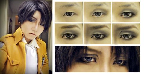 Levi/Rivaille (SnK) Eye Makeup by Phelios123