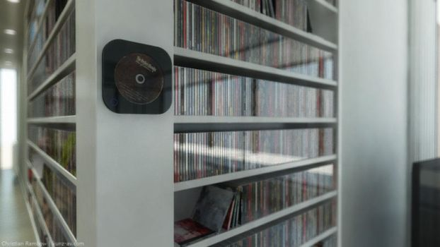 vertical disk player by ChrRambow