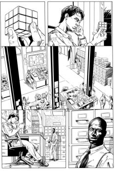 Homicide - Page 1 (Inks) by DavidAspmo