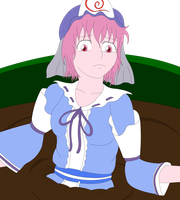 Yuyuko In Pudding Colored by TAPbagan