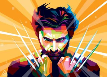 Wolverine in WPAP by aryakuza