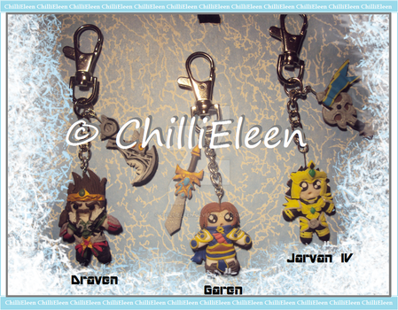 LEAGUE of LEGENDS - Keyrings 4 by ChilliEleen