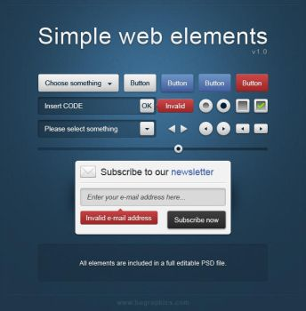 Simple web elements by bographics