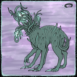 crystal tendril dog by CopperCentipede