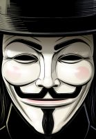 Guy Fawkes V for Vendetta by Thuddleston