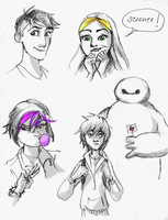 Big Hero 6 Sketchdump by indigoburst