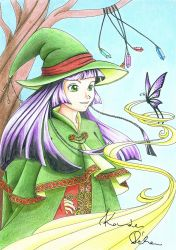 Sorceress and the Butterfly by HikariMiko