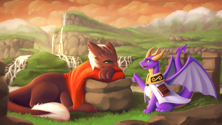A Dragon's Lecture: Commission for Ronixns by streetdragon95