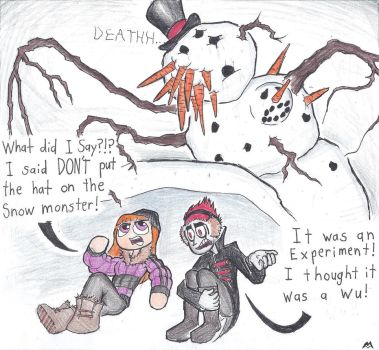 Fun with Frosty's Hat by CalvinAndHobbit