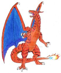 Scorching Charizard by Igglebock