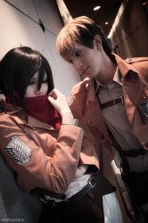 Jean and Mikasa - SnK by zoegan