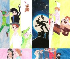 Peter Pan Bookmarks by Mis-misunderstood