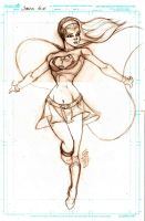 Supergirl Pin Up by JazzRy