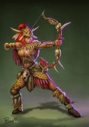 Official Smite Artemis Primal Huntress skin concep by PTimm