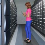 R-World: Alyssa in the Server Room by DonKevinMartin