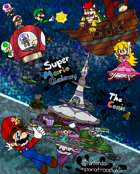 Super Mario Galaxy - Comic Cover by paratroopaCx