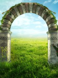 UNRESTRICTED - Summer Field Arch Background by frozenstocks