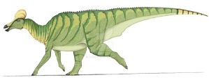 Corythosaurus in color by Ahrkeath