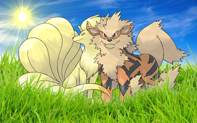 Arcanine and Ninetales by Nikslg