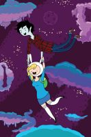 Fionna and Marshall Lee - Fly with Me by JokerandHarleyLover