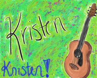 Tablet Series: A Guitar for Kristen by hippie-go-lucky