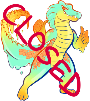 CLOSED -ADOPTABLE - 13.50 USD-TROPICAL SLIME GATOR by SaturnGalaxy