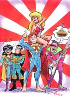 Archie Characters In Hero High by blackhellcat