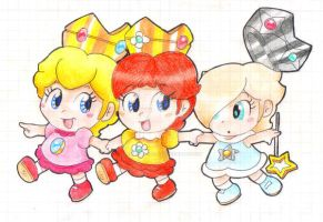 .:The Baby Princesses:. by ThePinkMarioPrincess