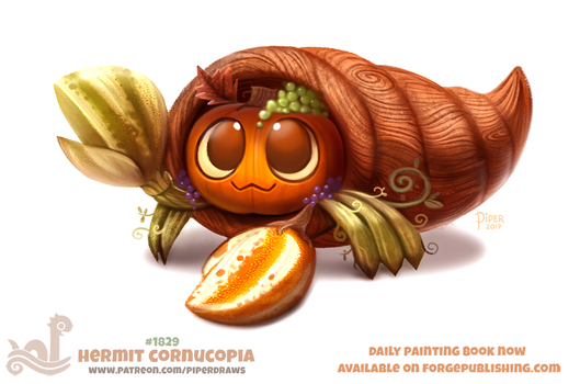 Daily Paint 1829# Hermit Cornucopia by Cryptid-Creations