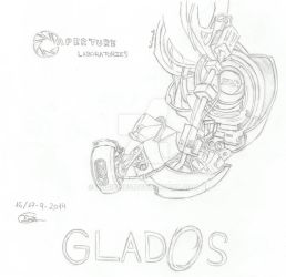 GLaDOS - Portal by AngieInes